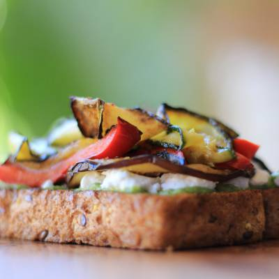 Grilled Vegetable (Simple & Yummy) Summer Toast