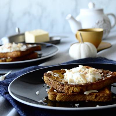 Pumpkin French Toast with Coconut Milk