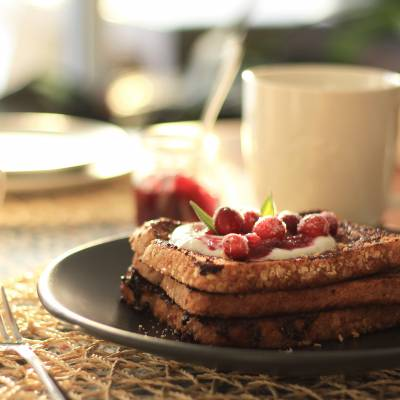 Maple and Cranberry French Toast