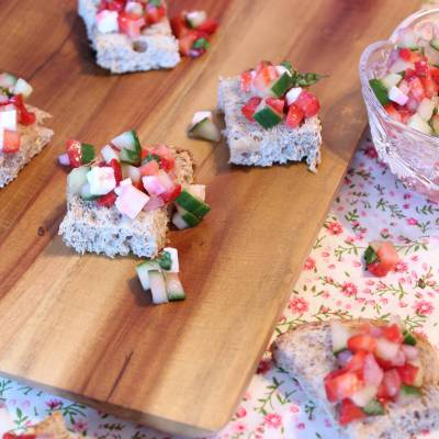 My favourite sweet and savoury bruschetta to share
