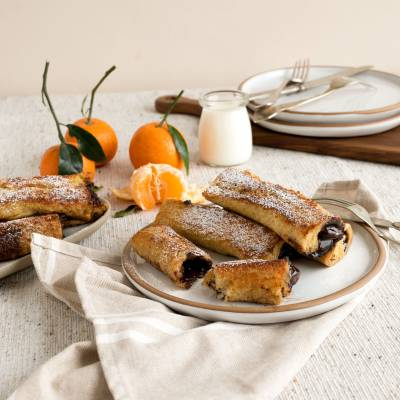 Chocolate-and-Clementine-filled French Toast Rolls